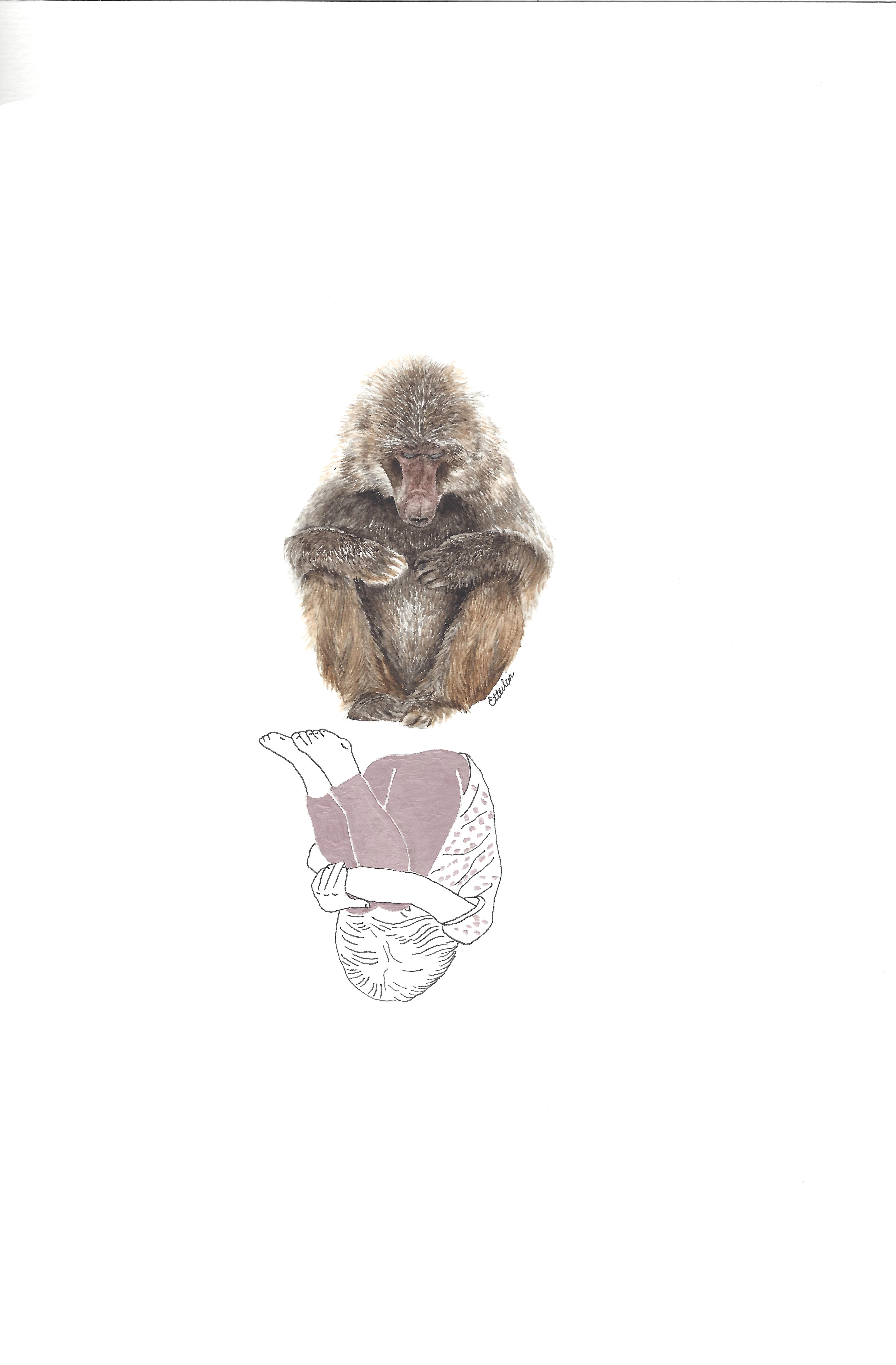 Elle et le Macaque japonnais
